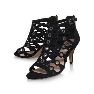Vince camuto Black leather sandals